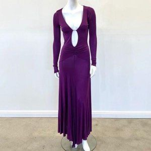 Patrizia Pepe Backless Maxi Purple Dress S/M